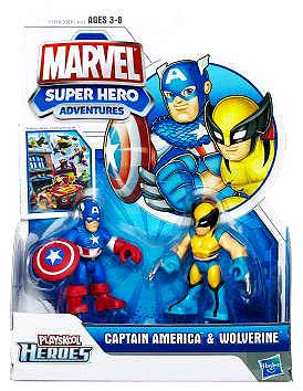 Marvel Super Hero Adventures - Captain America and Wolverine