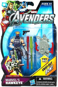 Marvel The Avengers - 3.75-Inch Hawkeye with Snap-Out Bow