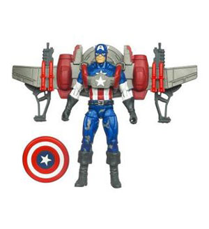 Captain America Deluxe - Captain America With Glider Jetpack