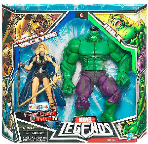 Hasbro Marvel Legends 2-Pack Exclusive: Valkyrie Vs Green Hulk