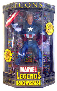 Marvel Legends Icons - Unmasked Captain America Variant