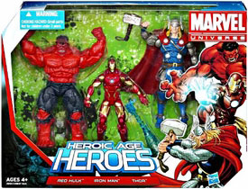 Marvel Super Hero Team Pack - Heroic Age Heroes - Red Hulk, Iron Man, Thor