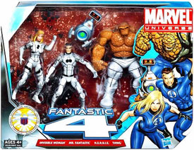 Marvel Super Hero Team Pack - Future Foundation Variant - Invisible Woman, The Thing, Mr Fantastic, H.E.R.B.I.E