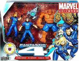 Marvel Super Hero Team Pack - Fantastic Four - Invisible Woman, The Thing, Mr Fantastic, H.E.R.B.I.E