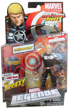 Marvel Legends 2012 - BAF Terrax - Steve Rogers - Clear Shield Variant