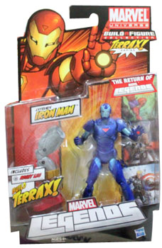 Marvel Legends 2012 - BAF Terrax - Blue Extremis Iron Man Variant
