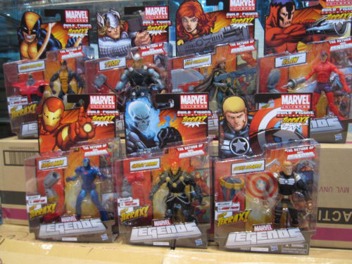 Marvel Legends 2012 - Series 1 VARIANT SET OF 7 - BAF Terrax - STEVE ROGERS, GHOST RIDER, IRON MAN VARIANT - EARLY MID FEB RELEA