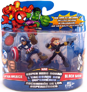Super Hero Squad - Captain America and Black Widow
