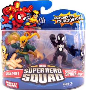 Super Hero Squad - Iron Fist and Black Costume Spider-Man