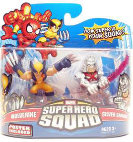 Super Hero Squad - Wolverine and Silver Samurai
