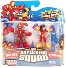 Super Hero Squad - Iron Man and Spider-Woman