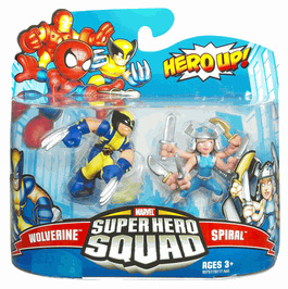 Super Hero Squad - Wolverine and Spiral
