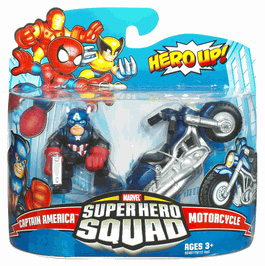 Super Hero Squad - Captain America and Motorcycle