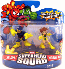 Super Hero Squad - Cyclops and Marvel Girl