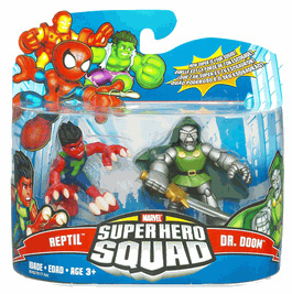 Super Hero Squad - Reptil and Dr Doom