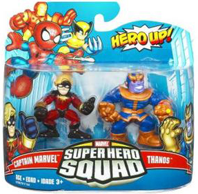 Super Hero Squad - Captain Marvel and Thanos