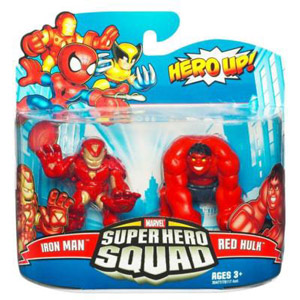 Super Hero Squad - Iron Man and Red Hulk