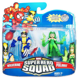 Super Hero Squad - Wolverine and Polaris