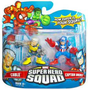 Super Hero Squad - Cable and Captain America