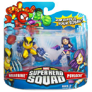 Super Hero Squad - Psylocke and Wolverine