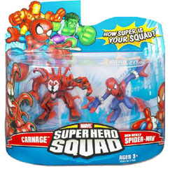 Super Hero Squad - Carnage and Ben Reilly Spider-Man