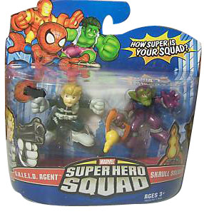 Super Hero Squad - S.H.I.E.L.D. Agent and Skrull Soldier