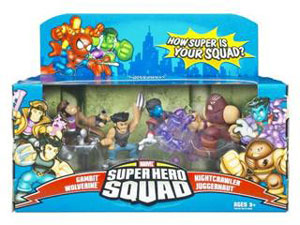 Super Hero Squad: X-Men Unite - Juggernaut Attacks 4-Pack