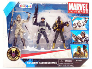 Marvel Universe - Exclusive Soldiers and Henchmen [Hand Ninja, SHIELD Agent, Agent Of Hydra]