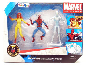 Marvel Universe - Exclusive Spider-Man and his Amazing Friends [Firestar, Spider-Man, Iceman]
