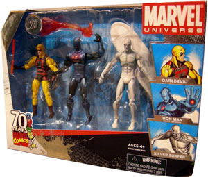Marvel Universe - Exclusive Daredevil, Iron Man, Silver Surfer