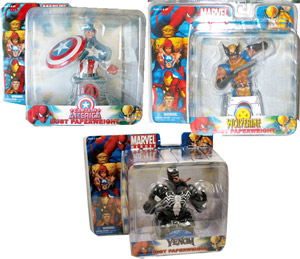 Marvel Bust Paperweight - Set of 3 (Captain America, Wolverine, Venom)
