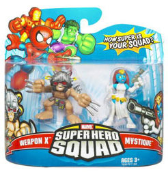 Super Hero Squad - Weapon X and Mystique