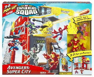 Super Hero Squad Playset - Avengers Super City [Iron Man, Spider-Man]