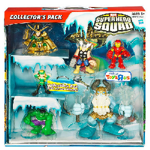 Super Hero Squad - 6-Pack Box Set Exclusive Thor, Iron Man, Hulk, Enchantress, Loki, Deluxe Savage frost Giant