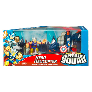 Super Hero Squad Squad Cruisers: Hero Helicopter with Thor and Captain America