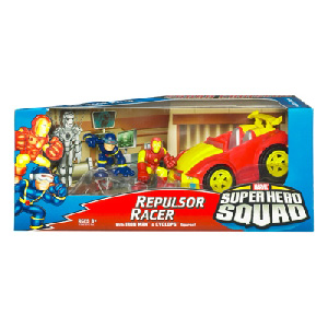 Super Hero Squad Squad Cruisers: Repulsor Racer with Iron Man and Cyclops