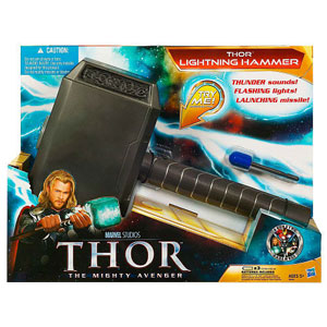 Thor Movie Roleplay - Electronic Lights and Sounds Lightning Hammer