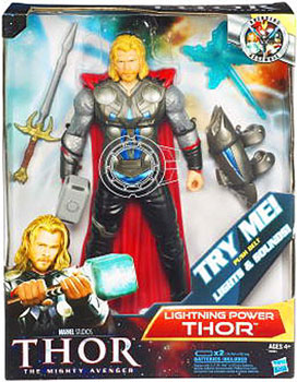 Thor Movie 10-Inch Deluxe Lightning Power Thor