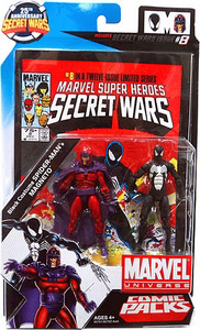 Marvel Universe Comic Pack - Black Costume Spider-Man and Magneto