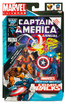 Marvel Universe Comic Pack - Wolverine and Captain America