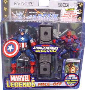 Captain America Vs. Red SKull Face-Off