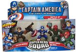 Super Hero Squad - Battle At Red Skull Lab - Captain America, Red Skull, Marvel Bucky