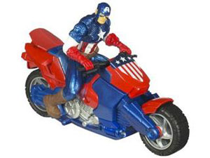 Captain America Cruisers - Zoom N Go Power Changer Cycle