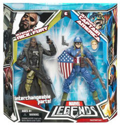Hasbro Marvel Legends 2-Pack: Ultimate Captain America and Nick Fury