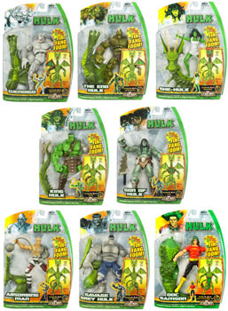 Hasbro Marvel Legends Hulk - Series 1 and 2 Set of 8 [Fin Fang Foom]