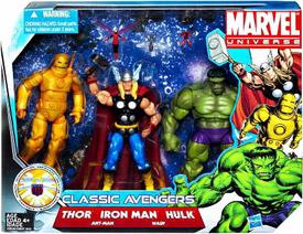 Marvel Super Hero Team Pack - Classic Avengers (Thor, Iron Man, Hulk)