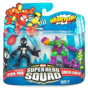 Super Hero Squad - Black Costume Spider-Man and Green Goblin