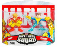 Super Hero Squad - Iceman and Pyro