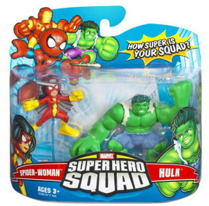 Super Hero Squad - Spider-Woman and Hulk