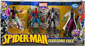 Marvel Select Exclusive Action Figure 4-Pack Fearsome Foes :Spider-Man, Lizard, Venom, Green Goblin